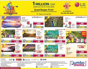 Jumbo lg led tv offers 07 04 to 16 04 qatar i discounts - Jumbo mobel discount ...