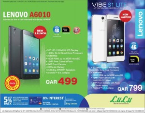 Lulu Lenovo mobile Offers 14-04 to 16-04 | Qatar i Discounts