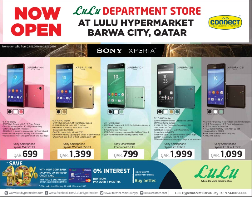 Lulu Sony Xperia Offers 23 05 To 28 05 Qatar I Discounts